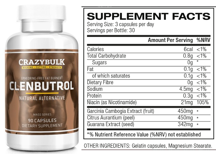 crazybulk-clenbutrol-supplement-facts