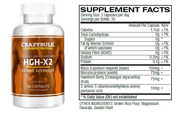 crazybulk-hgh-x2-supplement-facts