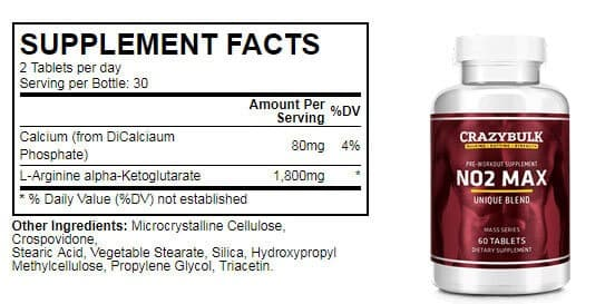 crazybulk-no2-max-supplement-facts