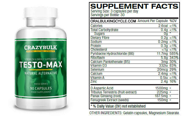 crazybulk-testo-max-supplement-facts