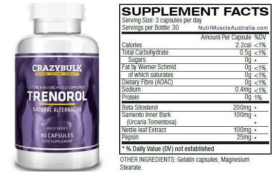 crazybulk-trenorol-supplement-facts